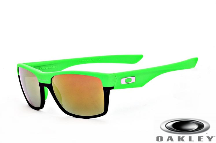 cheap fake oakley sunglasses australia  oakleys twoface sunglasses black green frame fire.