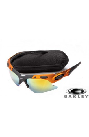 oakley sunglasses black orange  more views