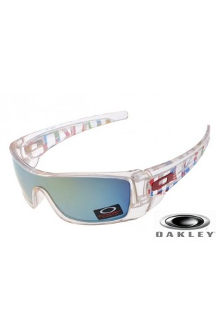 white and blue oakley sunglasses  Wholesale Fake Oakley Fuel Cell Sunglasses Crystal Frame Ice Blue ...