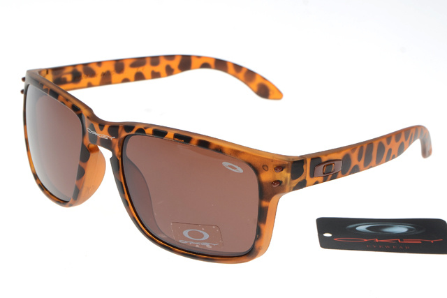 replica oakley sunglasses australia  oakley holbrook sunglasses leopard frame brown ir..