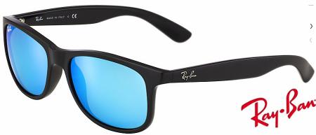 6f00650f446 Cheap Fake Ray Ban Andy RB4202 Sunglasses Black Frame Blue Mirror ...