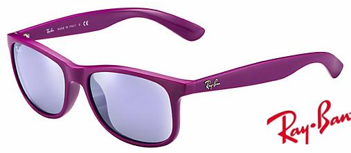 4d088bdf8ae Fake Ray Bans Andy RB4202 Sunglasses Purple Frame Purple Mirror Lens ...
