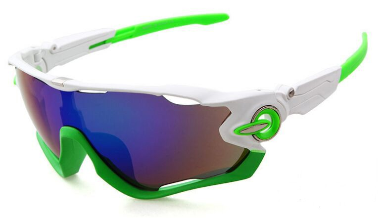 Fake Oakley Sunglasses Jawbreaker White Green Frame Sapphire Iridium ...