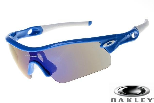 Oakley Radar Path Sunglasses Blue Frame Gray Gradient Iridium Lens