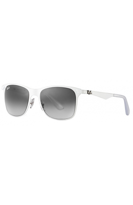 eff194cb29 Ray Ban RB3521 Wayfarer Flat Metal Sunglasses White Frame Grey Gradient Lens