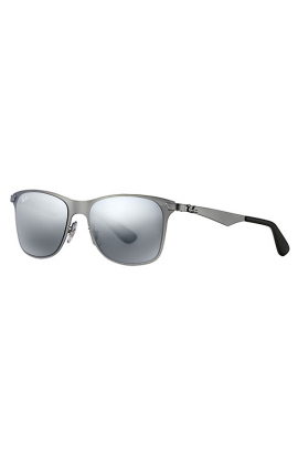 67de187ad0 Ray Ban RB3521 Wayfarer Flat Metal Sunglasses Gunmetal Frame Silver Gradient  Mirror Lens