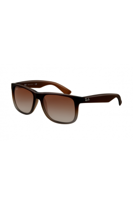 3ff8385c22 Ray Ban RB4165 Justin Sunglasses Rubber Brown Frame Brown Gradient Lens